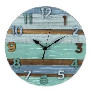 「Sea Code」製 古木で作られた南国風の掛け時計。