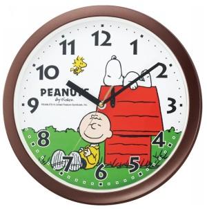 お昼寝スヌーピーのかわいい時計。