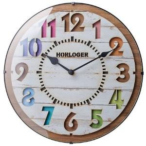 くり貫きの数字が可愛いナチュラルテイストの電波時計 FORLI(フォルリ)