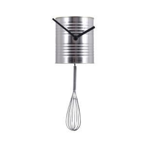 スープ缶の下で泡立て器が揺れるアートクロック Chef(シェフ)