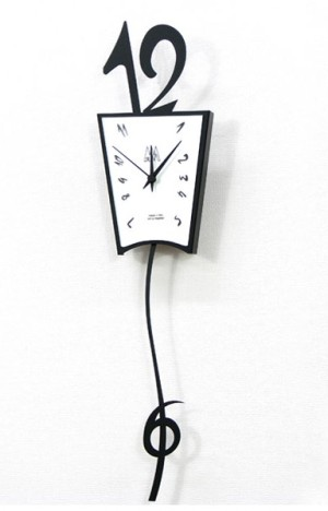 『6』が揺れるイタリア製振り子時計  GIGIO(ジジオ)