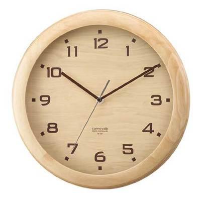 ぬくもりを感じる木の時計