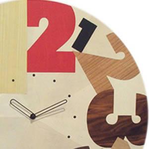 イタリア・ピロンディーニ製、寄木細工の特大時計 ortondo