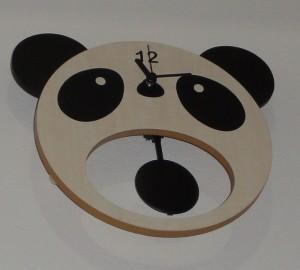 お口あんぐりパンダの振り子時計