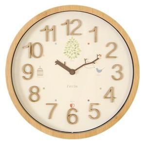 零時に新緑が芽吹くお洒落な演出 電波時計 TRAD(トラド)