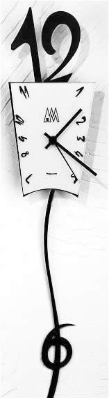 『6』が揺れるイタリア製振り子時計。 GIGIOウォールクロック 。
