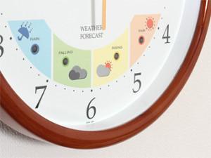 温度計・湿度計・天気計が一つになった超多機能 ウェザーパル電波時計。