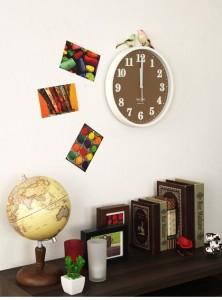新生活にぴったり 白壁に映えるパステルカラーの壁掛け時計「POP'n」