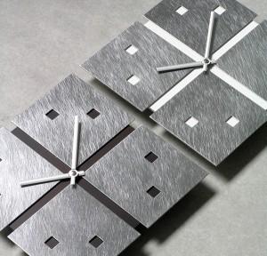 アルミのソリッドを組み合わせた美しいウォールクロック HEGEL(ヘーゲル)