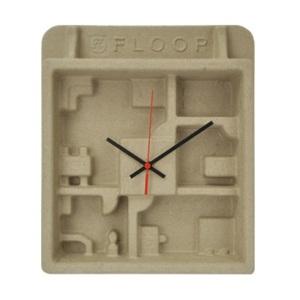 パルプモールド素材のエコ&超軽量掛け時計 FLOOP(フループ)
