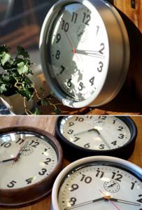 ビメイクス製 50-60年代のアメリカ西海岸のステーションクロックを再現したこだわりの掛け時計