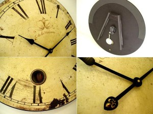 ヨーロピアンサイズの特大時計 カフェ・ラージクロック。