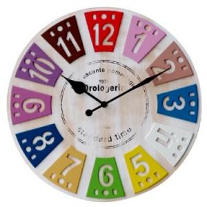 ルーレット風のポップな掛け時計 WEIL(ウィール)