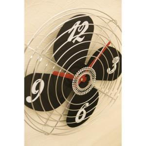 涼しい風が吹いてきそうな扇風機デザインの掛け時計「FAN」。