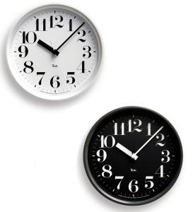 渡辺力デザイン電波時計「リキ スチールクロック」
