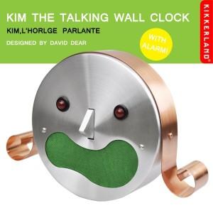 Kikkerland(キッカーランド)製 おしゃべり掛け時計キム君