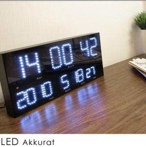超高機能デジタル電波時計  LED Accurat(アクラート)