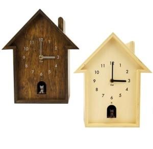 「にゃあ♪」と時間をお知らせ CAT HOUSE CLOCK