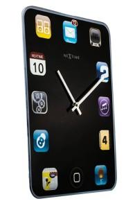 タッチパッドのようなデザインの掛け時計 Wall Pad (ウォールパッド)