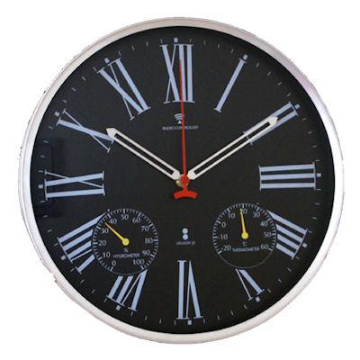 渡辺力デザイン「リキクロック」の小さめアナログ電波時計。