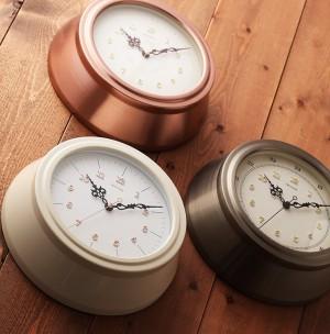 まるっと可愛いアルミ枠の掛け時計 「スタンダードスタイル127」