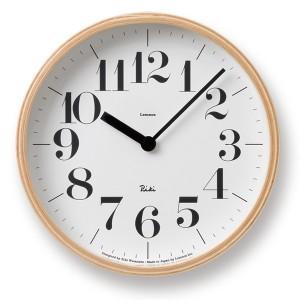 渡辺力デザインアナログ電波時計「リキクロック」