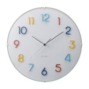 針金アートのようなカラフル電波時計 ラウンドウォールクロック