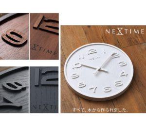 文字盤、針、枠 すべてが木製 「Wood Wood」